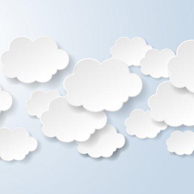 Papiers peints Résumé des bulles en forme de nuages utilisés dans un contexte social