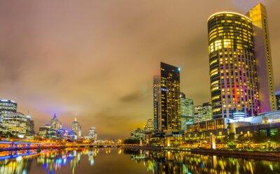 Papiers peints Yarra River et Melbourne horizon.