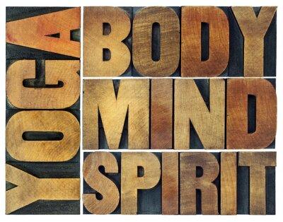 Papiers peints Yoga, corps, esprit, âme et esprit
