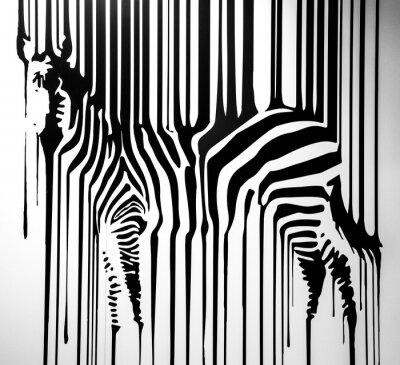 Zèbre papier peint • papiers peints empreintes digitales, vie