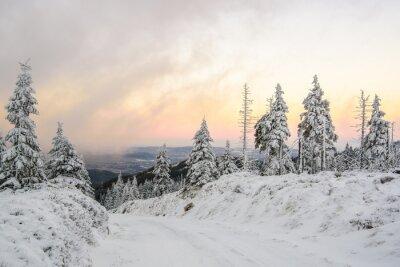 Papiers peints Zimowa droga w górach
