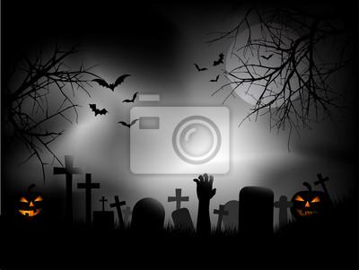 Zombie main dans le cimetière