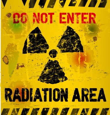 Papiers peints zone d'avertissement de rayonnement, illustration