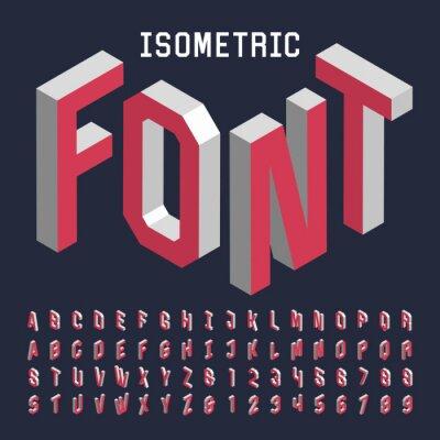Posters 3d isométrique police vectorielle alphabet. Isométrique lettres, chiffres et symboles. Three-Dimensional typographie stock vecteur de titres, affiches, etc.