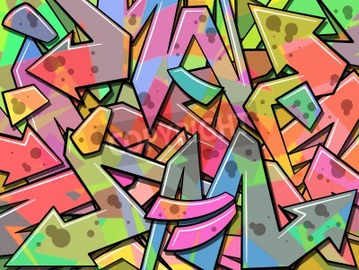 Posters A Colorful Graffiti Background