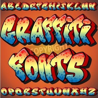 Posters A Full Set of Graffiti Fonts