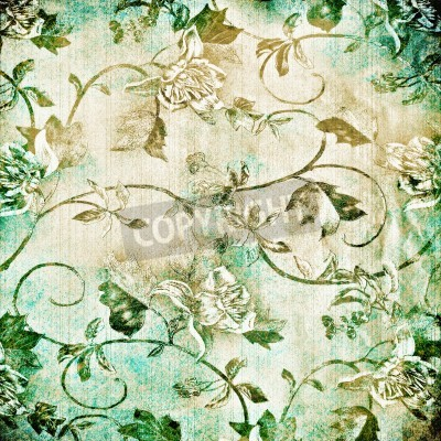 Posters Abstract old background with grunge texture. For art texture, grunge design, and vintage paper or border frame