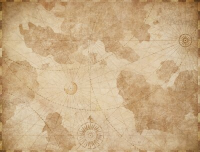 Posters Abstract old nautical vintage map background