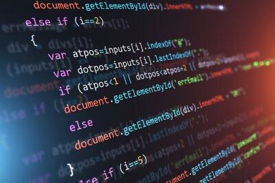 Posters Abstrait de code source de programmation