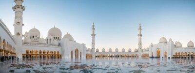 Posters Abu Dhabi, EAU, 4 janvier 2018, Grande Mosquée Sheikh Zayed à Abu Dhabi, Émirats Arabes Unis