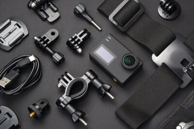 Posters Action camera and accessories.