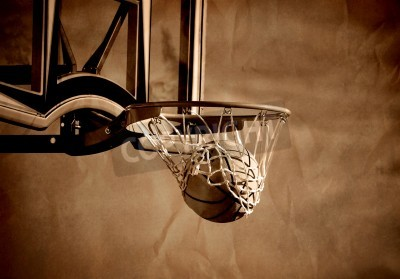 Posters Action plan du basket-ball en passant par le basket-ball cerceau et net