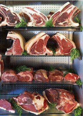 Posters Affichage, sec, âgé, viande, bouchers, magasin