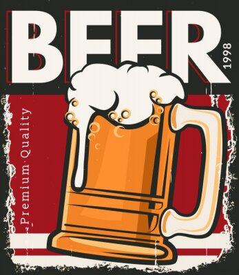 Posters Affiche bière rétro