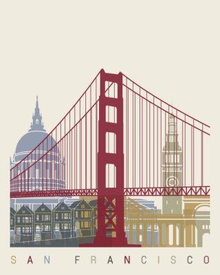 Posters Affiche de l'horizon de San Francisco