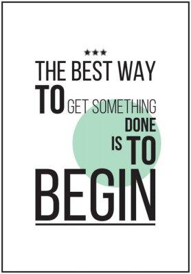 Posters Affiche de motivation simples sur fond blanc