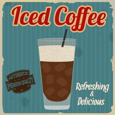 Posters Affiche rétro de café glacé