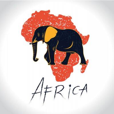Posters Afrique et Safari avec le logo éléphant 2