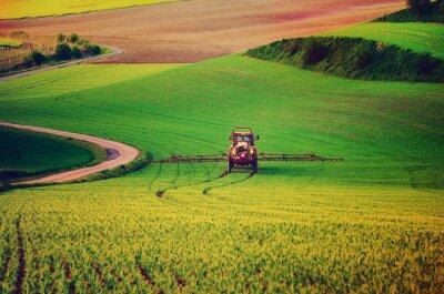 Posters Agricole, machinerie, Pulvérisation, insecticide, vert, champ, agricole, naturel ...