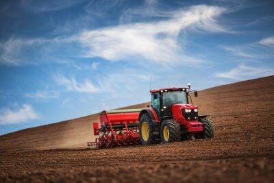 Posters Agriculteur, tracteur, semer, cultures, champ