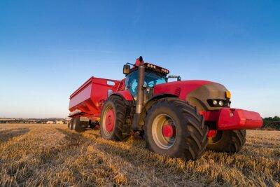 Posters Agriculture tracteur et la remorque