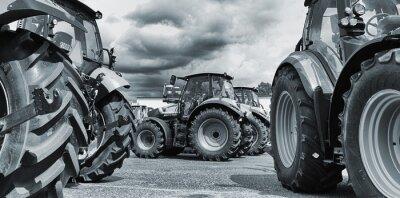 Posters agriculture tracteur line-up, des charrues et machines