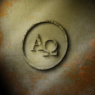 Posters Alpha Omega - Seal - Weathered