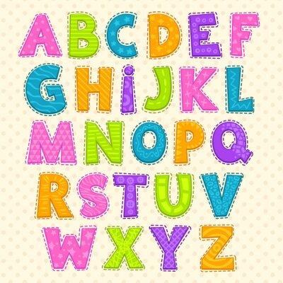 Posters Alphabet enfantin mignon drôle