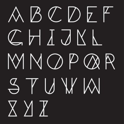 Posters Alphabet géométrique moderne