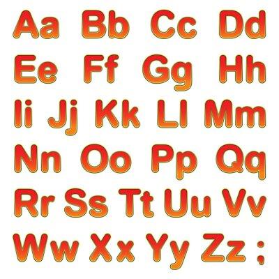 Posters Alphabet, lettres, noir, fond