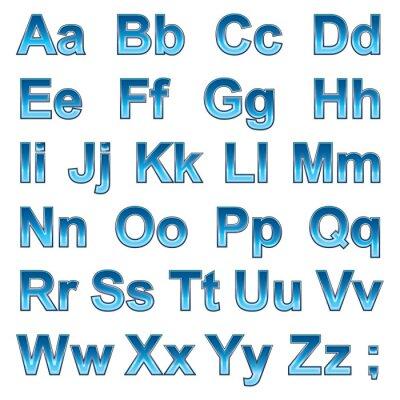 Posters Alphabet pseudo 3d lettres