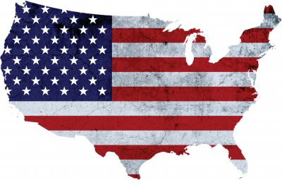 Posters America with Flag Texture