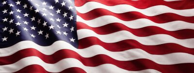 Posters American Flag Wave Close Up