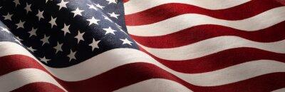 Posters American Wave Flag Backgroun. USA