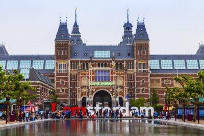 Posters Amsterdam, Pays-Bas. La place en face du musée d'État