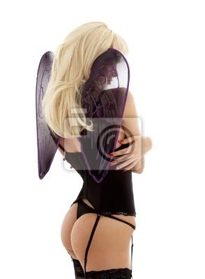 ange de la lingerie noire