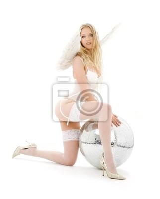 ange de lingerie avec boule disco