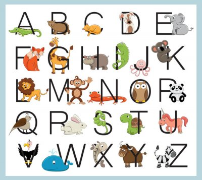Posters Animaux Alphabet