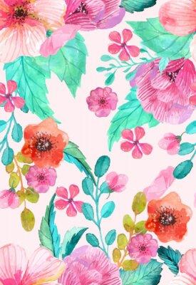 Posters Aquarelle floral pattern