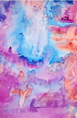 Posters Aquarelle peinte à la main fond d'art pour le scrapbooking