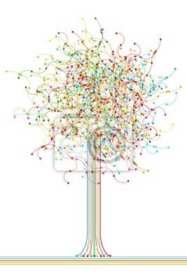 Arborescence du réseau abstrait coloré