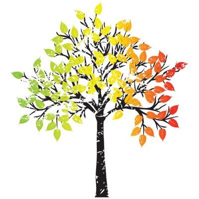 arbre Grunge en couleurs rasta