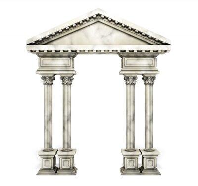 Posters Arc classique de la colonne de Corinthe.