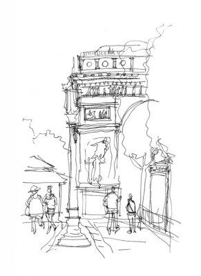 Posters Arc de Triomphe croquis