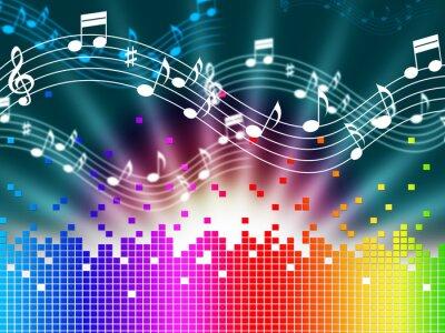 Posters Arc-en-Musique de fond signifie le chant et Soundwaves Melody.