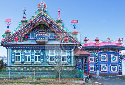 architecture intéressante de la maison russe