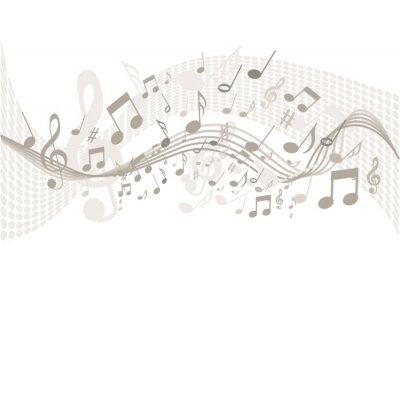 Posters Arrière-plan avec des notes de musique