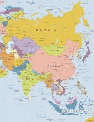 Posters Asie-map.Layers très détaillées utilisée.