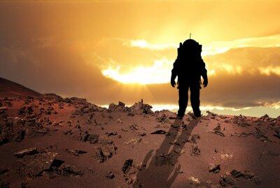 Posters Astronaute à Mars