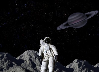 Posters Astronaute, lunaire, surface